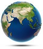 Världskarta - Indiska oceanen vektor illustrationer