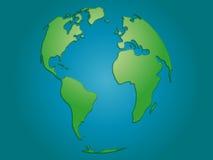 Världskarta med textur Arkivbild
