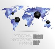 Världskarta- och informationsdiagram Royaltyfria Foton