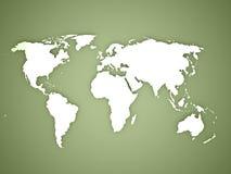 Världskarta på gräsplan vektor illustrationer