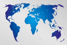 Världskarta på modern bakgrund. Arkivbilder