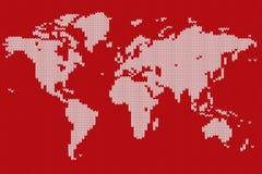 Världskarta stiliserad stucken textur Royaltyfri Illustrationer