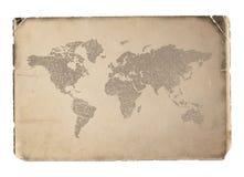 Världskarta. Vektorillustration. eps8 Royaltyfria Bilder