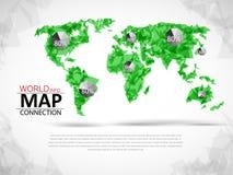 Världskartaanslutning Royaltyfri Fotografi