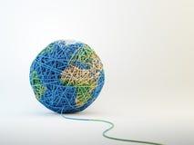 Världskartacball av ull vektor illustrationer