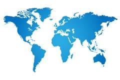 Världskartaillustration Royaltyfri Bild