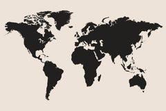 Världskartaillustration Arkivbilder