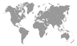 Världskartamall royaltyfri illustrationer