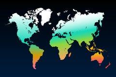 Världskartamall stock illustrationer