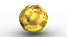 Världskartan vänder in i ett jordklot royaltyfri illustrationer