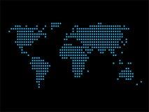 Världskartaprickdesign Fotografering för Bildbyråer