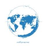 Världskartavattenfärg, vektorillustration Royaltyfria Bilder