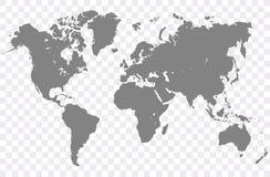 Världskartavektor royaltyfri illustrationer