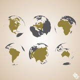 Världskartavektorbakgrund Royaltyfri Fotografi