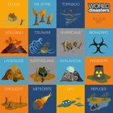 Världskatastrofer Royaltyfri Illustrationer