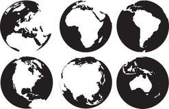 Världskontinenter Arkivbilder