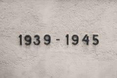 1939 - 1945 - världskrig två Arkivbild