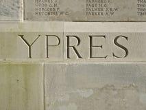 Världskrig 1 Ypres Belgien Royaltyfri Bild