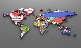 Världslandsflaggor royaltyfri illustrationer