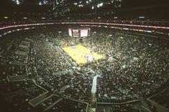 Världsmästerskap Los Angeles Lakers, NBA-basketmatch, Staples Center, Los Angeles, CA Arkivbild