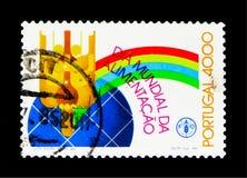 Världsmatdag, internationell händelseserie för projektion, circa 198 Arkivbilder