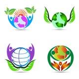 Världsomsorg stock illustrationer