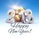 Världsomspännande hälsningkort för lyckligt nytt år 2018 Arkivfoton