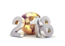 2018 världsomspännande hälsningsymbol Royaltyfri Foto