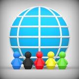 Världsomspännande kamratskapbegrepp Stock Illustrationer