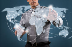 Världsomspännande nätverk Arkivbild