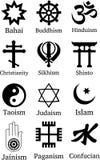 Världsreligionsymboler Arkivbilder