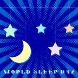 Världssömndag moon stjärnor stil för popkonst