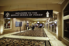 Världsserie av poker (WSOP) på Rio de Janeiro Arkivbild