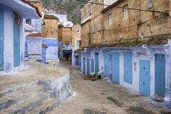 Världsstäder, Chefchaouen i Marocko Arkivfoto