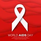 Världsstoppet bistår dag på röd origamibakgrund medvetenheten stock illustrationer