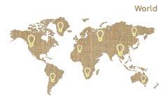Världssymbol Arkivfoton