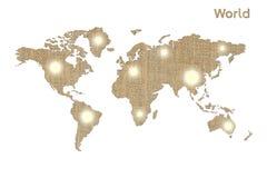 Världssymbol Fotografering för Bildbyråer