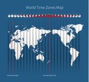 Världstidszonöversikt stock illustrationer