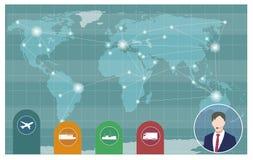Världstrans. och logistik stock illustrationer