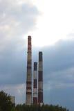 Värma och kraftverket Arkivfoton