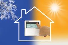 Värma och kyla luftkonditioneringsapparaten Arkivfoto