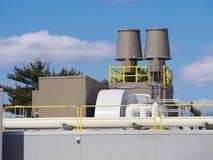 Värma och kyla ventilationssystemet Arkivfoton