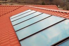 värmande upp sol- systemvatten Arkivbild
