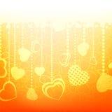 Värme den abstrakta valentinkortmallen EPS 8 Arkivbilder