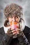 Värme drinken Arkivfoto