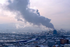 värme för luftföroreningrökvariation Arkivbilder