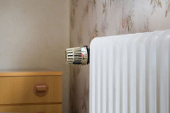Värmeapparat med termostaten royaltyfri fotografi