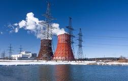 Värmeelectropowerstation Royaltyfri Bild