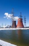 Värmeelectropowerstation Royaltyfri Fotografi