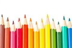 Vässade kulöra blyertspennor Royaltyfria Foton